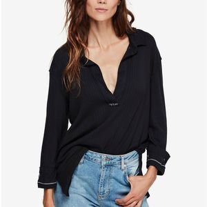FREE PEOPLE Annie Pullover Top MED NWT